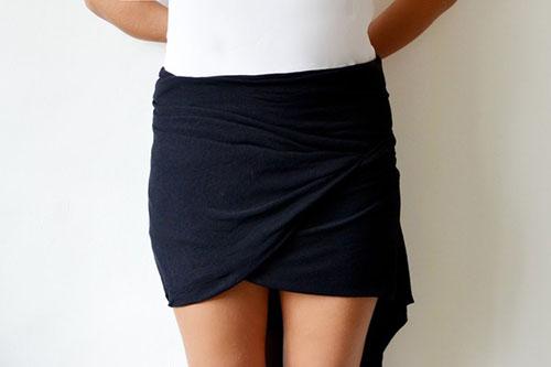Cách làm váy ôm từ khăn choàng