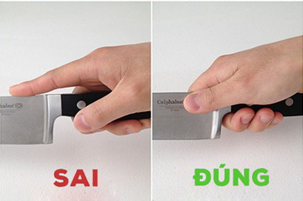 Cầm dao đúng
