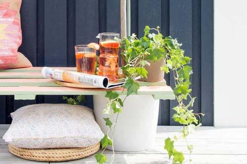 Làm ghế gỗ ý tưởng vườn hoa bãi rác