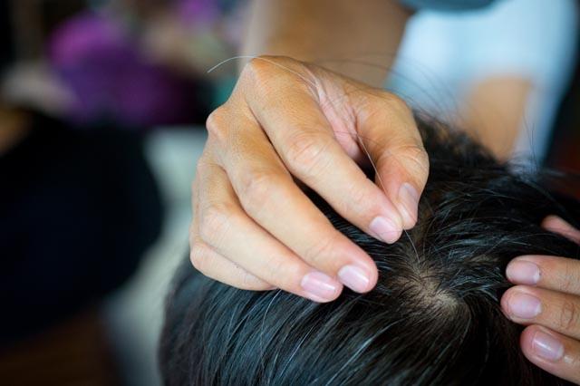mẹo chữa tóc bạc xớm