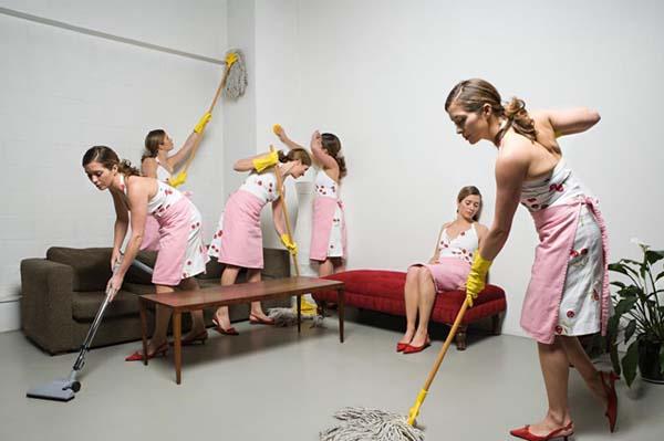 dọn dẹp nhà đón Tết