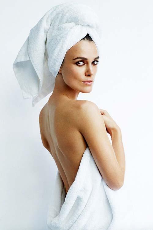 dùng khăn tắm lau mặt
