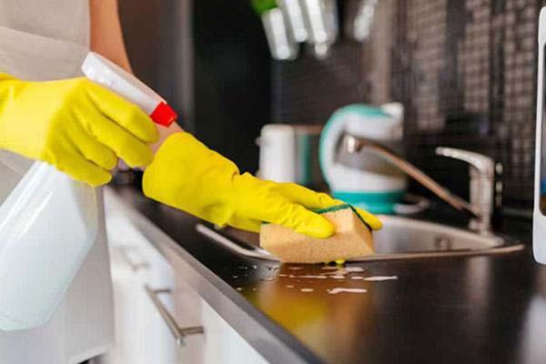 cách làm nhà bếp sạch bóng thơm tho