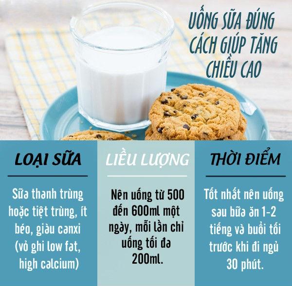 cách ăn uống tăng chiều cao đúng cách